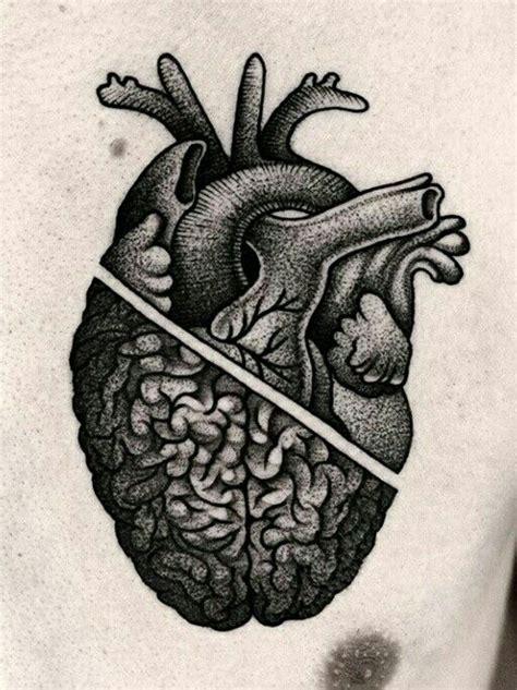 half heart tattoo best 25 brain ideas on