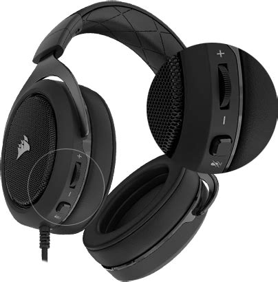 Corsair Hs50 Stereo Gaming Headset Carbon corsair hs50 carbon pc console stereo gaming headset