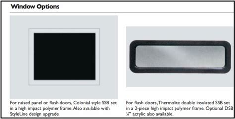 garage door window insert kits