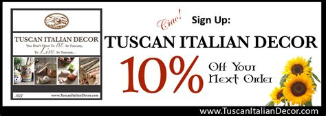 home decorators coupon 10 off decor coupon tuscan italian decor coupon tuscan italian decor