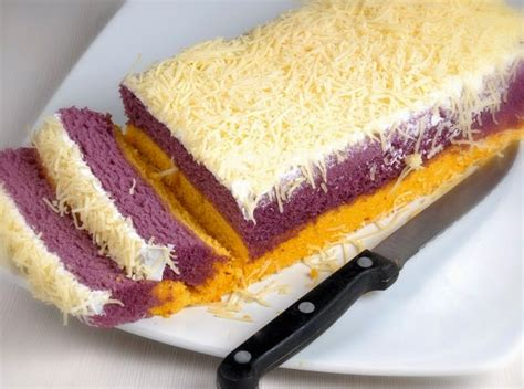 Loyang Kue Lapis Talas Khas Bogor resep membuat kue lapis talas bogor nikmat empuk sajian