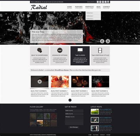 homepage template freebie radial web site template psd premiumcoding