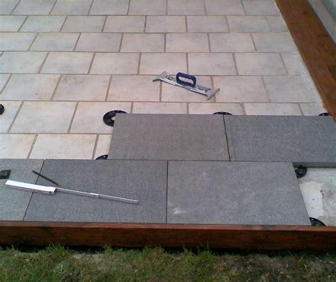 terrasse 80 x 40 plain white eine terrasse aus granitplatten auf stelzlagern