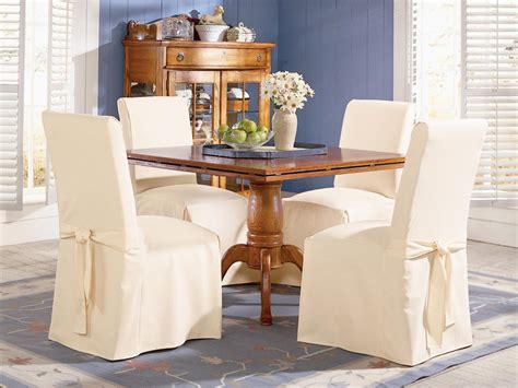 Covered Dining Room Chairs Slipcovered Dining Chairs Homesfeed