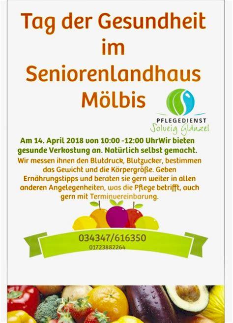 Tag Der Gesundheit Seniorenlandhaus M Lbis
