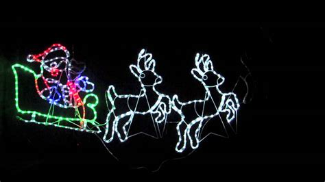 rope light silhouettes led santa sleigh reindeers 2