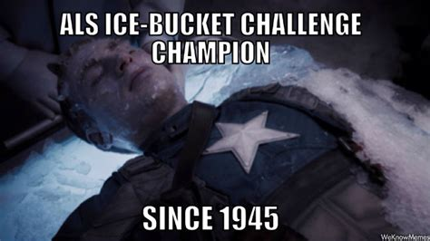 Meme Bucket - captain america ice bucket challenge chion since 1945