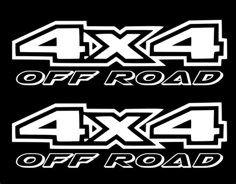 4x4 Road Stickers