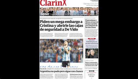 per 250 vs argentina est 225 s portadas de los diarios