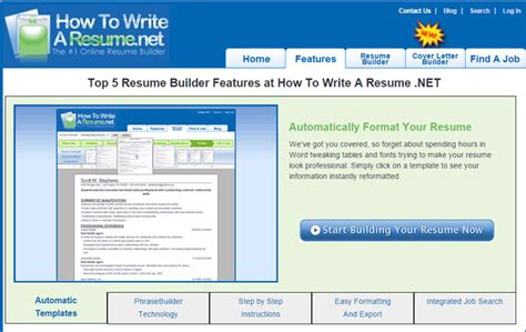Free Build Resume Site by 12 Best Resume Builder Websites To Build A Resume