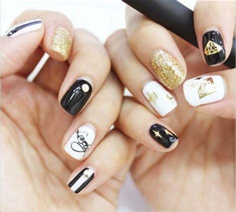 Nail Sticker Minx Nail 3 3d gold nail stickers decals minx korean nail wraps metallic flowers bow letters nail