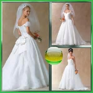 Vogue Wedding Dress Patterns Mccalls 4775 Simply Elegant Wedding Dress Patterns