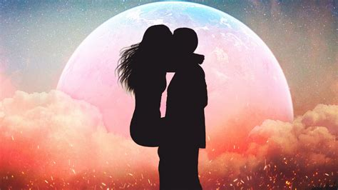 romantic kissing couple silhouette wallpapers hd