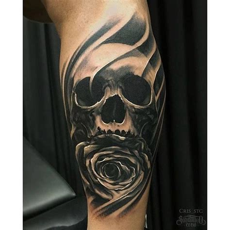 skull and rose tattoo for men 75 fabulous cool skull tattoos to wear this summer and
