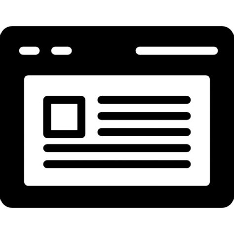 la finestra testo finestra browser aperta con il testo scaricare icone
