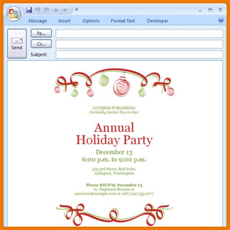 Outlook Invitation Template Mathmania Me Outlook Email Invitation Templates Free