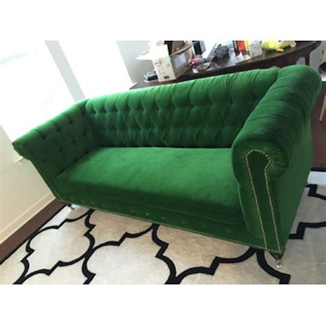 Chesterfield Replica Sofa by Anthropologie Lyre Chesterfield Replica Sofa Green Velvet