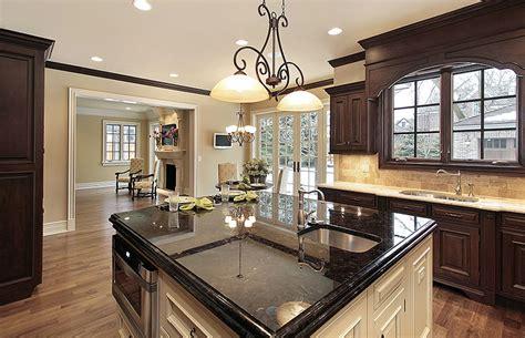 Granite Countertops Adding Practical Luxury To Modern Kitchen Designs Black Granite Countertops Colors Styles Designing Idea