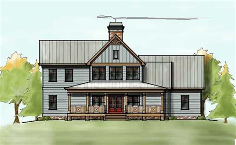 two farmhouse plans 2 house plan with covered front porch