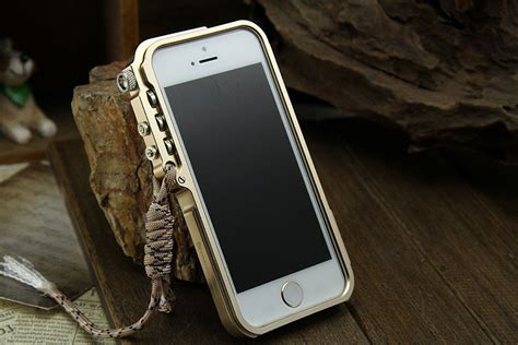 Mnt Str Premium Casing Hp Iphone 4 4s 5 5s Joker Print simon mechanical arm trigger aluminum alloy metal bumper outdoor armor king