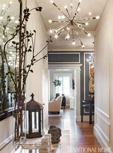 Decorating The Entrance To Your Home eclectic hallway with high ceiling amp chandelier zillow
