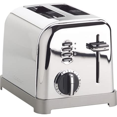 Cuisinart Classic Toaster Cuisinart 174 Classic 2 Slice Toaster Crate And Barrel