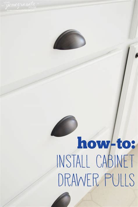 How To Install Knobs On Kitchen Cabinets by How To Install Cabinet Drawer Pulls Pomegranate House