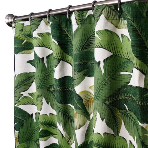 palm leaf curtains fabric shower curtains in our fabric or yours