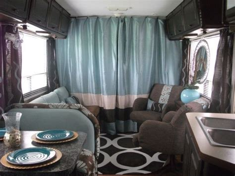curtains for travel trailers decorating a pop up cer color theme for pop up cer