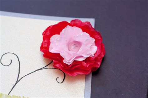 paper flower card tutorial mrs ricefield paper flower card tutorial thursday