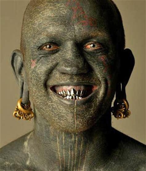 full face tattoo green tattooed tattooimages biz