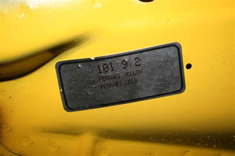 ferrari yellow paint code 1989 porsche 930 pts ferrari fly yellow 62 036 miles