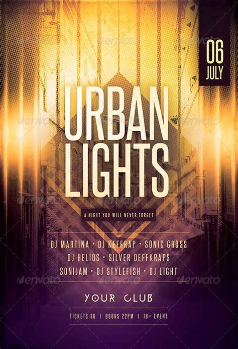 Urban Lights Flyer Template Http Www Ffflyer Com Urban Lights Flyer Template Urban Lights Lights Flyer Template