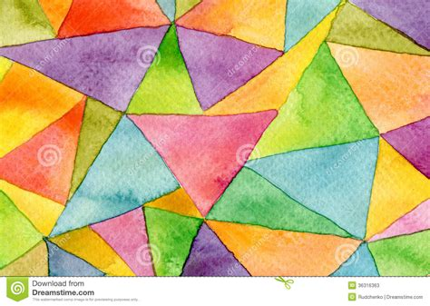 watercolor geometric pattern abstract watercolor geometric pattern background stock