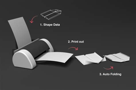 Printer That Folds Paper - paper concept 4d paper printing technology