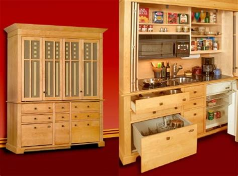 Kitchen Self Design The Armoire Kitchen Self Contained Kitchen Space Saving Design
