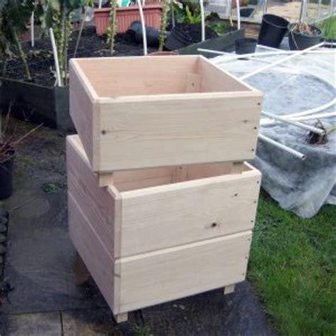 Wooden Potato Planter by Wood Preserver