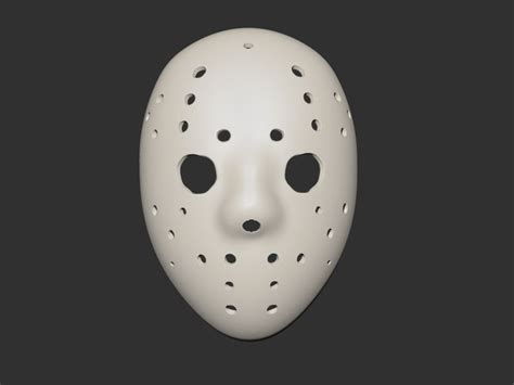 printable jason mask jason mask 3d model 3d printable stl cgtrader com