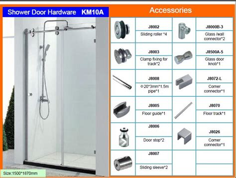 Frameless Sliding Shower Door Roller And Bracket Set Shower Door Sliding Parts