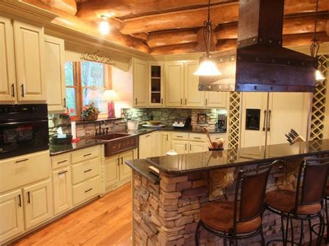 Kitchen Islands With Stoves 17 best images about log cabin kitchen on pinterest