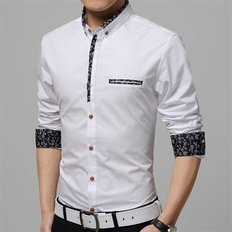 Amenicer Navy Kemeja Pria Style Formal Casual Slim Fit Berkualitas 2017 brand new shirts casual turn collar