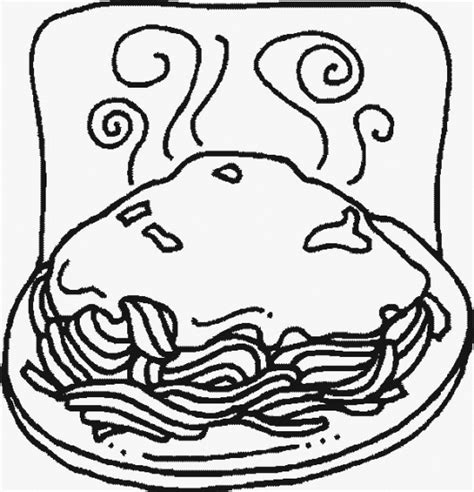 pasta coloring page for strega nona for the love of