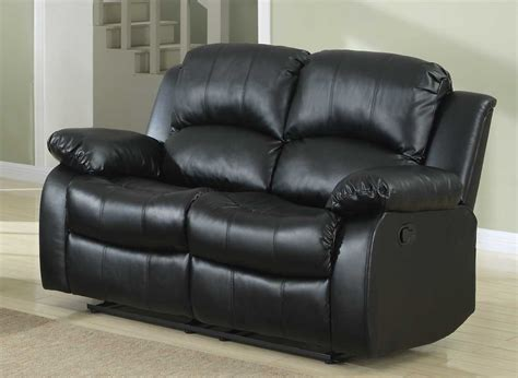 leather sofa love seat homelegance cranley double reclining bonded leather love