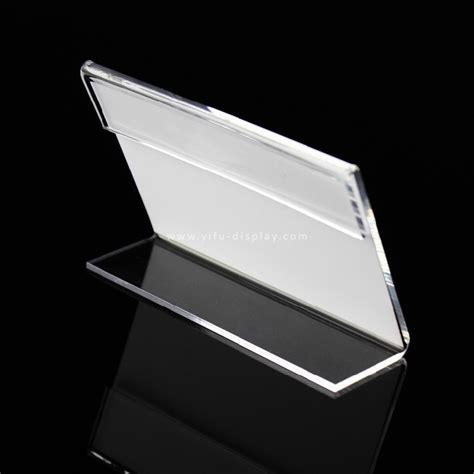 Label Name Plate Display Stand Acrylic Akrilik Model Tenda 20x7 Cm acrylic sign holder desk label sh008 manufacturers acrylic