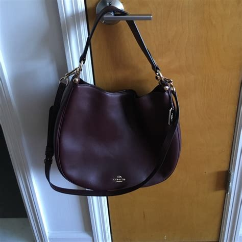 Coach Nomad 29 54 coach handbags coach nomad hobo in oxblood
