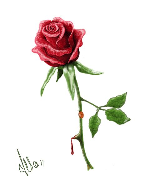 single rose tattoo designs design by twistedmentality on deviantart