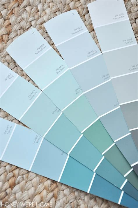 Paint Color Sherwin Williams Sea | honey we re home choosing paint for the dining room
