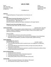 respiratory therapist resume example resumes design
