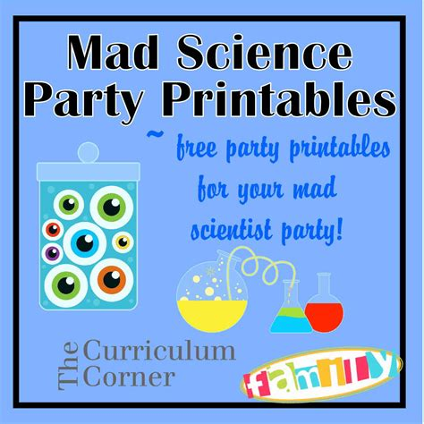 printable science party decorations free mad scientist party printables from www