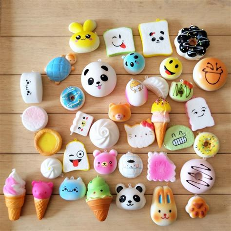 Squishy Mini Random Isi 5 20pcs lot rising squishy squeeze soft mini panda bread cake donuts